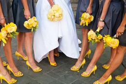 Желто-серая свадьба
