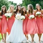 Изящная нежность: розовые платья подружек невесты