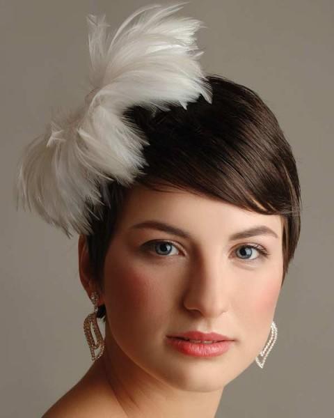Прическа невесты: короткие волосы, смелые идеи