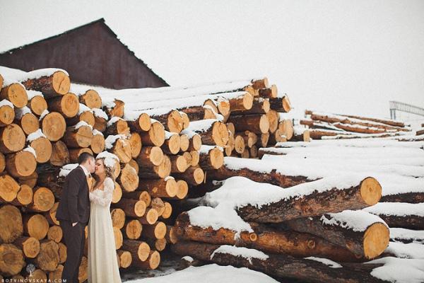 Свадьба в зимнем стиле