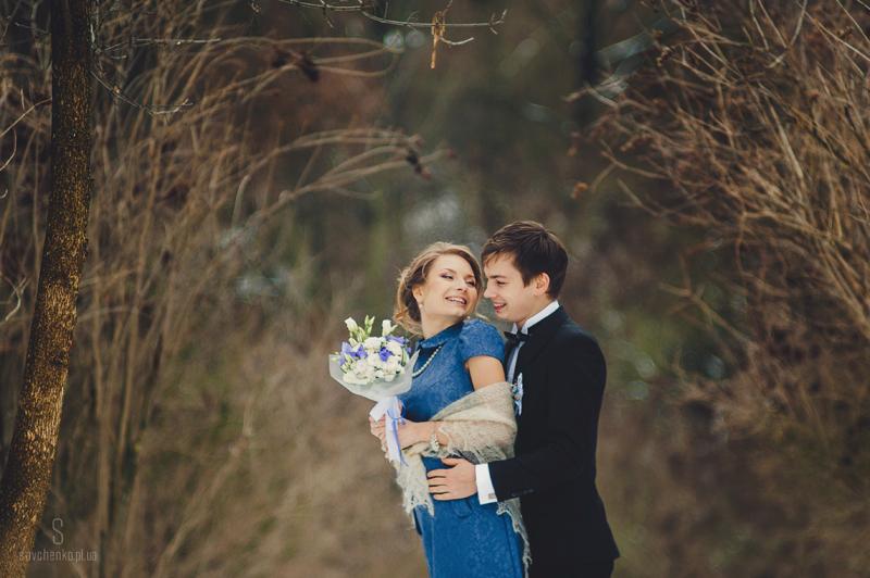 Веселая зимняя свадьба Алены и Жени