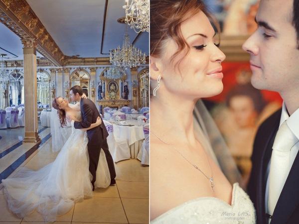 Классическая зимняя свадьба с венчанием