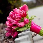 свадебный букет невесты из тюльпанов