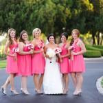 малиновые платья подружек невесты