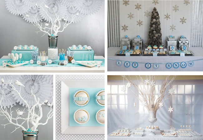 Зимняя свадьба в синих тонах