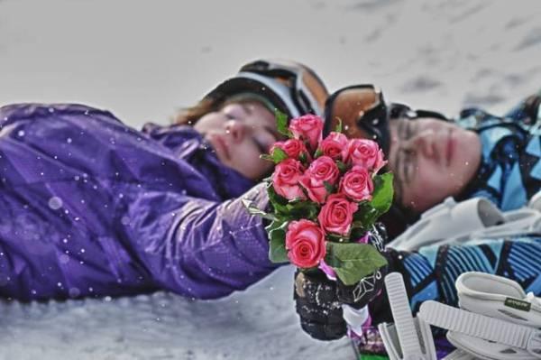 Свадьба со сноубордами