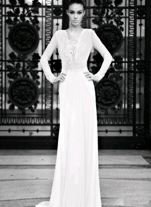 Свадебные платья с рукавами 2013