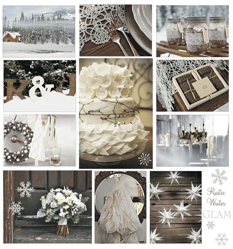 Зимняя свадьба в бежевых и коричневых тонах