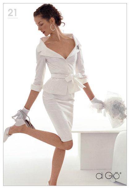 модные короткие свадебные платья 2013