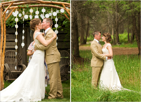 Лавандовая свадьба Лекси и Дэна в стиле рустик
