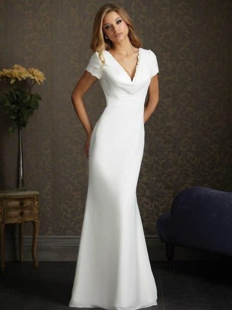 Прямые свадебные платья 2013