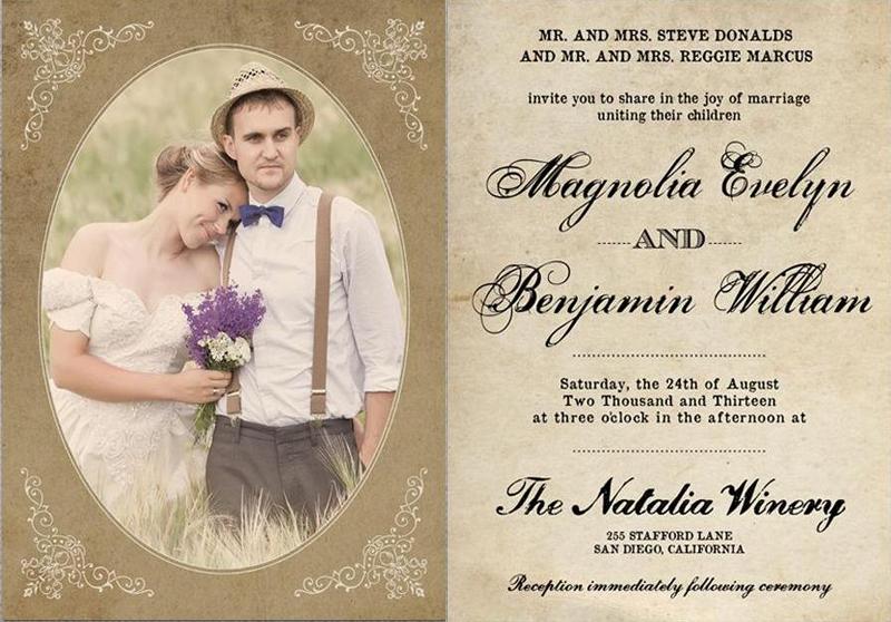 приглашения на свадьбу под старину