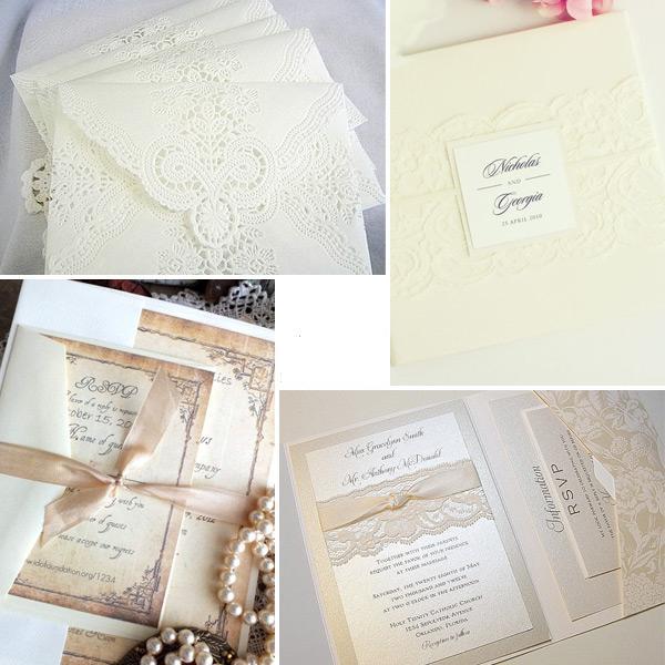 приглашения на свадьбу с кружевом