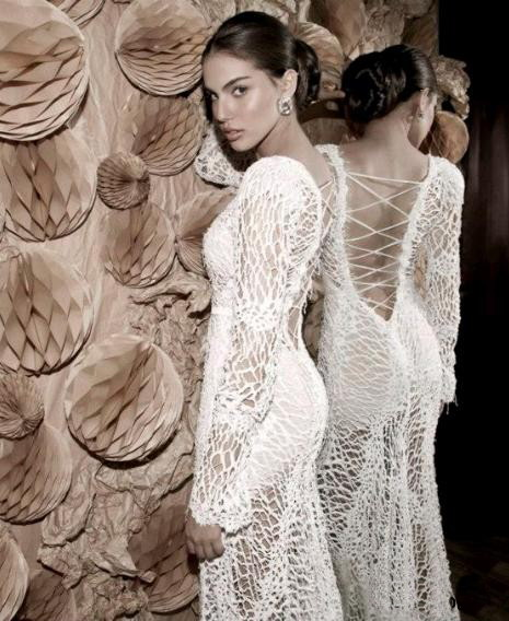 свадебные кружевные платья 2013