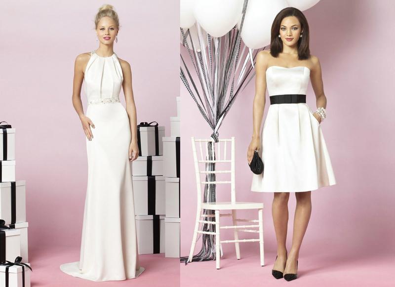длинные платья подружек невесты