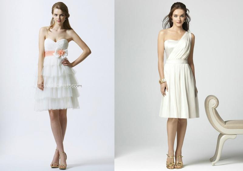 фасоны платьев подружек невесты