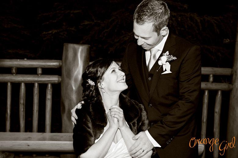 Зимняя свадьба Мишель и Стефана