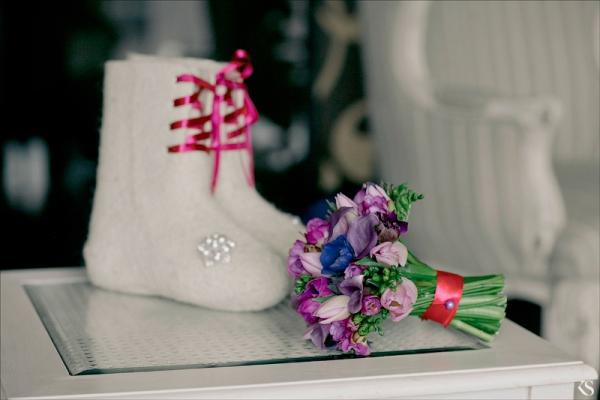 Изысканная зимняя свадьба в русском стиле Мария и Сергей
