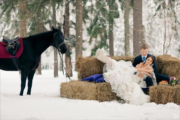 Изысканная зимняя свадьба Марии и Сергея в русском стиле