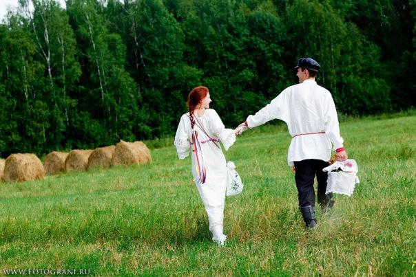 свадьба в русском стиле оформление
