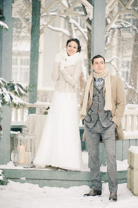 русская свадьба зимой