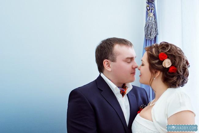 Ольга и Евгений: красная зимняя свадьба в русском стиле