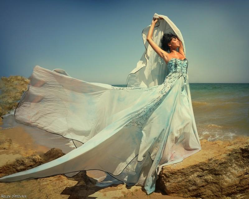платье для свадьбы на пляже