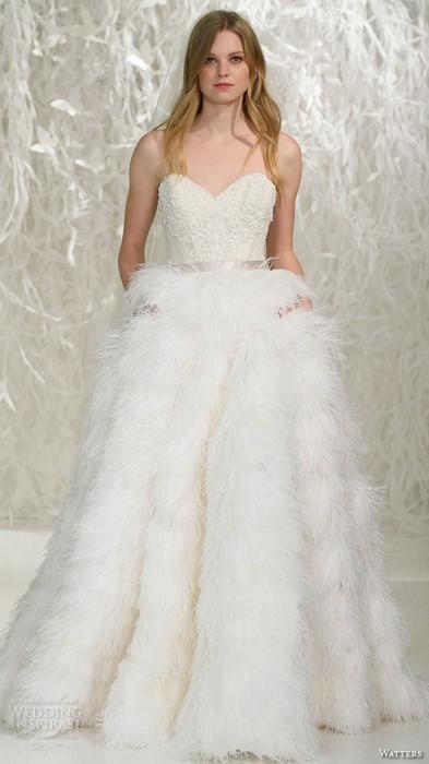 Платье для зимней свадьбы