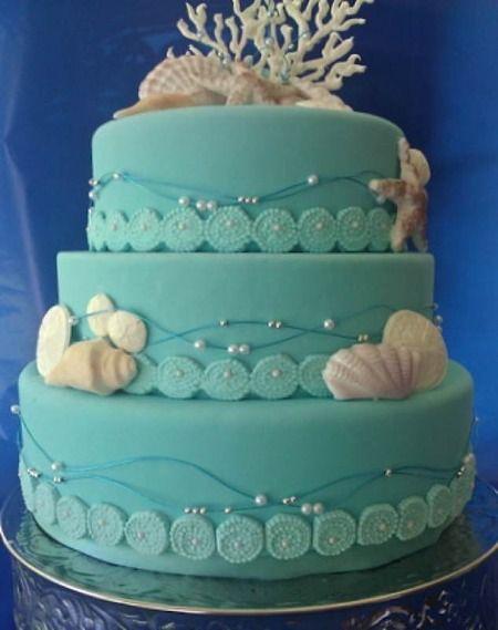 свадебный торт бирюзовый