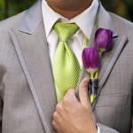 Бутоньерка из тюльпанов
