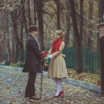 Иван да Марья: осенняя свадьба в стиле ретро