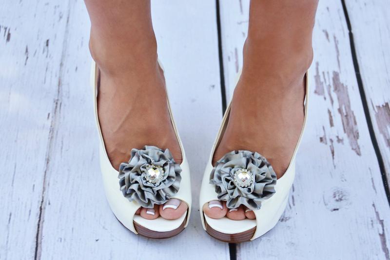 Свадебные туфли с бантиком