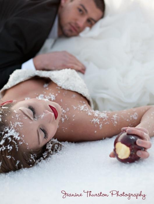 Зимняя свадьба в стиле Белоснежки