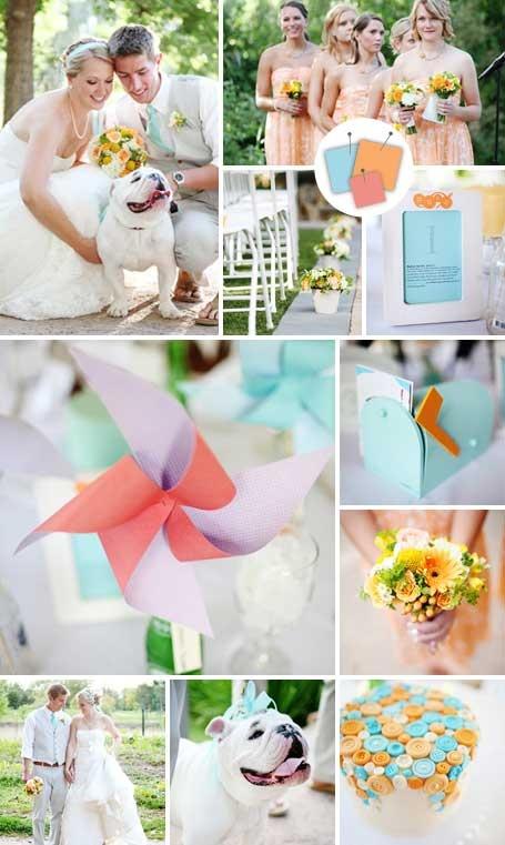цветовая гамма свадьбы 2014
