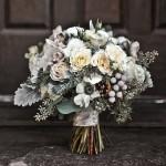Зимний букет невесты в стиле рустик