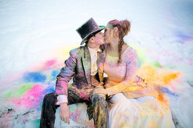 Зимняя свадьба в стиле Алисы в Стране чудес от Сабрины и Хуберта