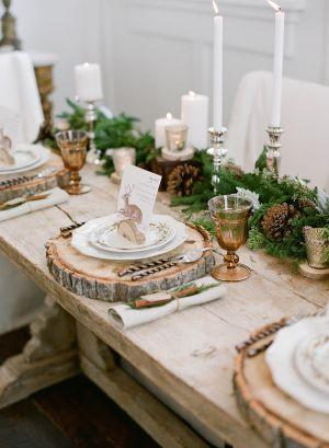 Оформление зимней свадьбы в стиле рустик