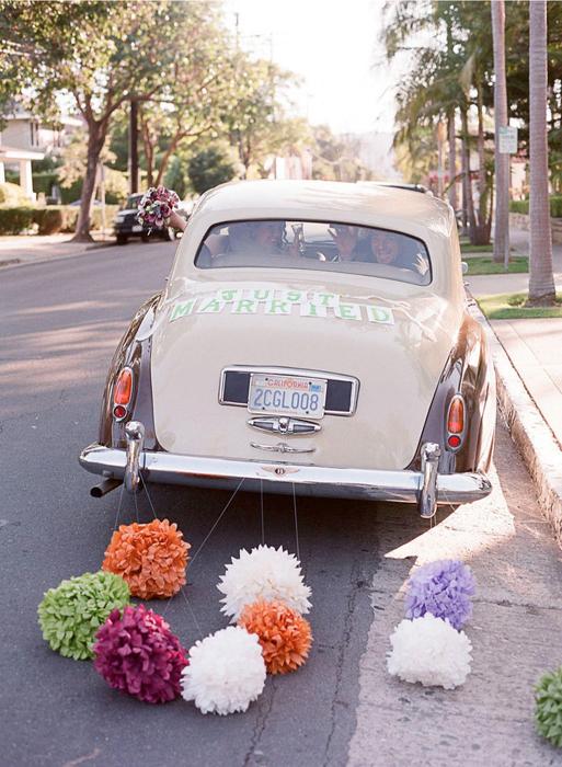 декор свадебной машины