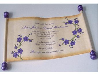 приглашение на свадьбу свиток