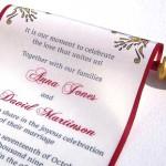 приглашение на свадьбу сверток