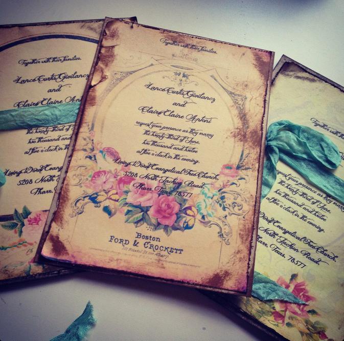 свадебные приглашения тиффани