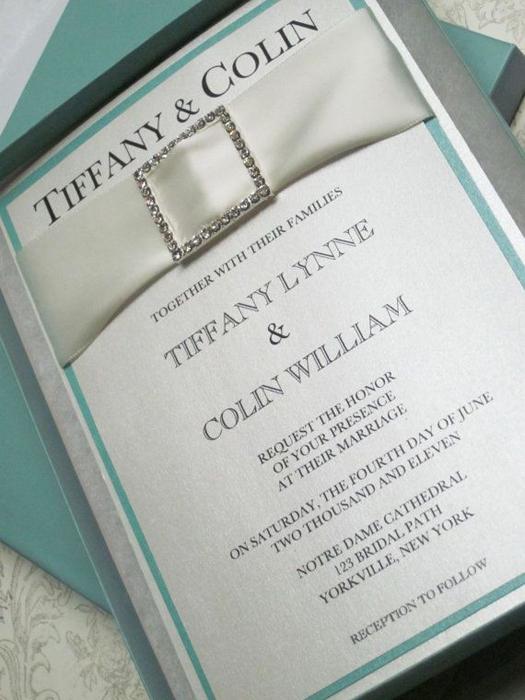 пригласительные на свадьбу в стиле тиффани