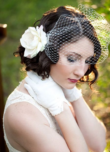 прически на каре на свадьбу