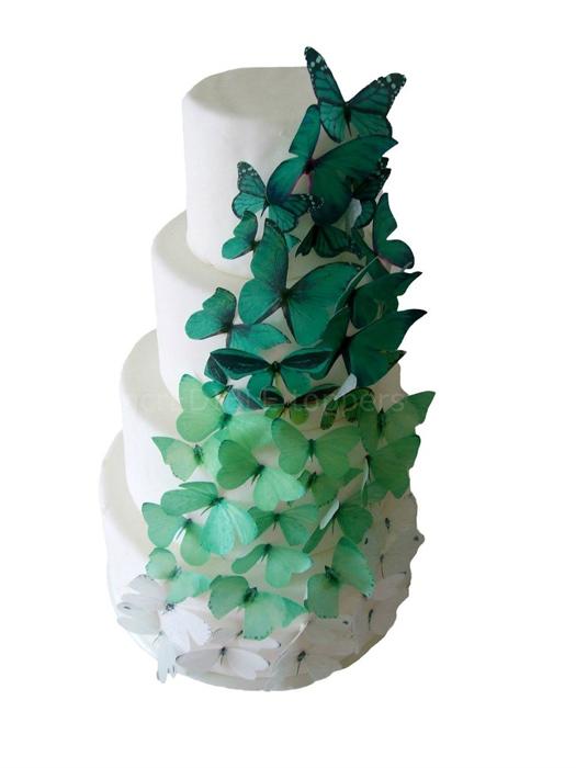 свадебный торт зеленый