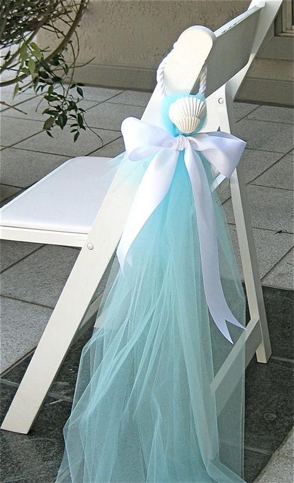 декор свадебных стульев