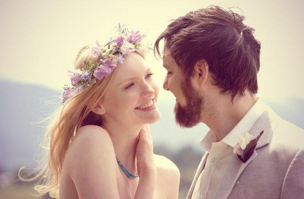 образ невесты с венком
