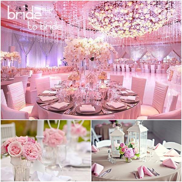 Розовый цвет свадьбы