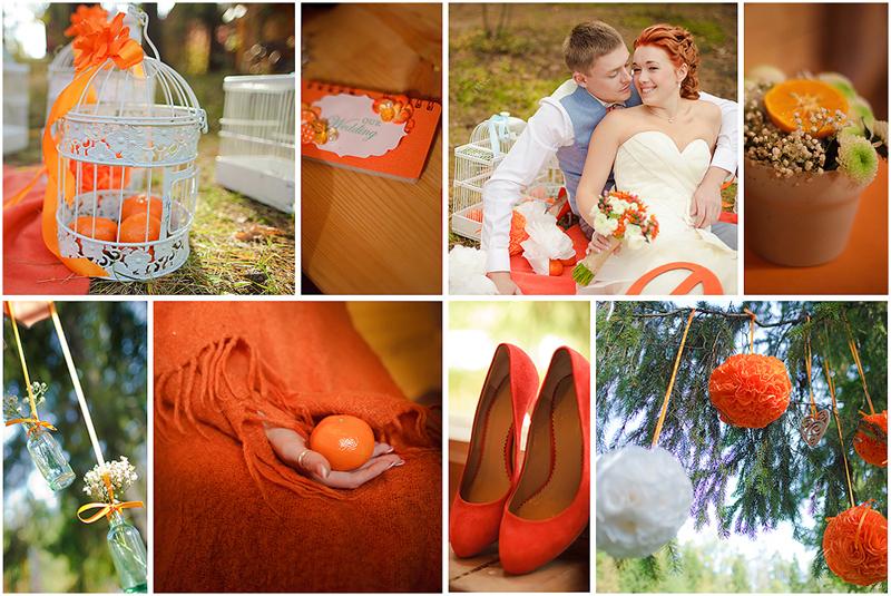 цвет свадьбы летом