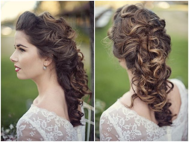 50 Dreamy Wedding Hairstyles For Long Hair: Коса из локонов на свадьбу