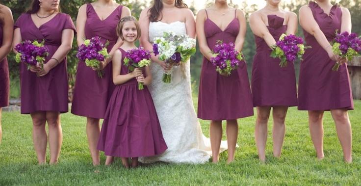подружки невесты в сиреневом